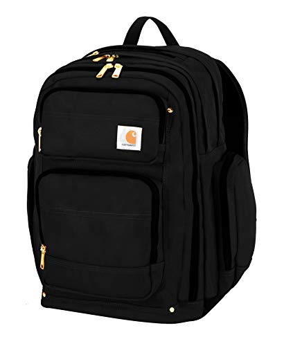 Carhartt Legacy Deluxe Work Backpack with 17-Inch Laptop Compartment, Black