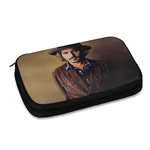 Johnny Depp Bolsa de almacenamiento de línea de datos bolsa de almacenamiento, bolsa de almacenamiento de accesorios electrónicos, cargador USB, etc. Bolsa de almacenamiento de viaje multifunción