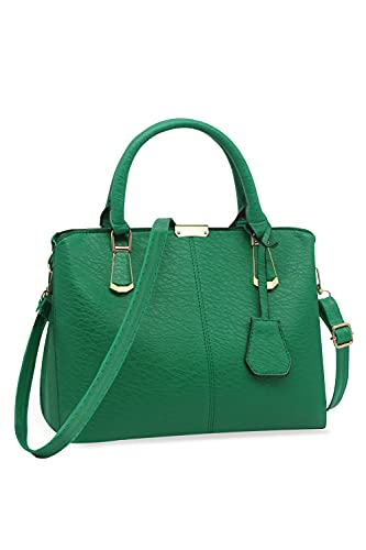 Pahajim Womens Fashion Tote Bag PU Leather Church Handgbags Unique Work Satchel Purse (green)