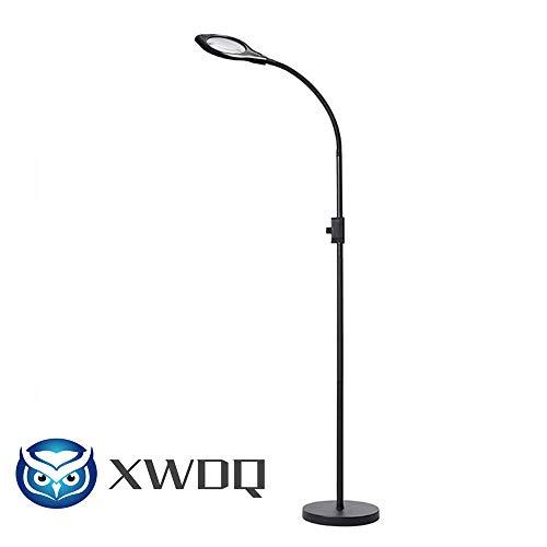 Led-vloer warm licht met vergrootglas drie kleurtemperatuur en donker instelbare schoonheidslamp leesvloer koud licht