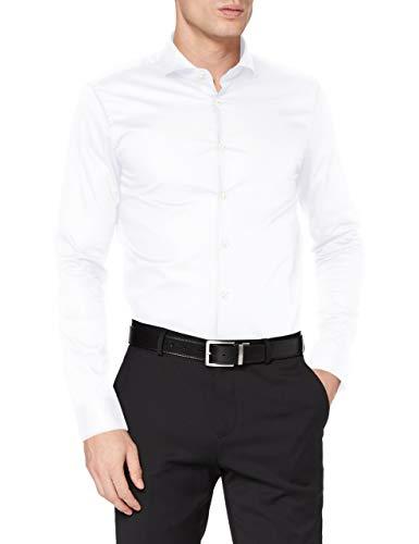 Strellson Premium Herren 11 Adrian 10005809 Businesshemd, Weiß (White 100), Kragenweite: 43 cm