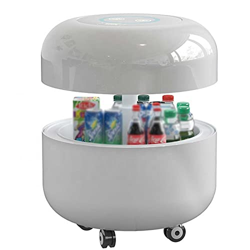 RJMOLU Mesa de Centro Inteligente de Lujo Moderna Mesa de Centro Elegante del refrigerador, Mesa de Centro levadiza con Pantalla táctil LCD, Reproductor Blutooth, Nevera,Blanco