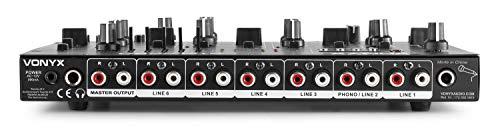 Vonyx STM2290 Table de Mixage DJ 8 canaux, Entrée USB et SD, Bluetooth, 8 effets sons individuels,...