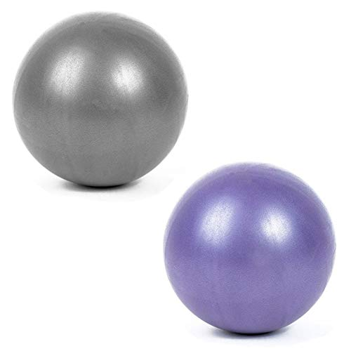 GOODGDN 2 Piezas Bola Yoga Ejercicio,Mini Balón Ejercicio Anti Explosión 25CM para Gimnasio Yoga Masaje en Casa para Ejercicios Abdominales y Ejercicios Básicos de Rehabilitación de Hombros Oficina