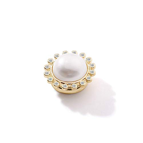 JIANGCJ Good temperament brooch pins for women Brooles free perforated iron stone anti-walking shift magnetic small suck female criminal needle opening door fixed clothes accessories artifact
