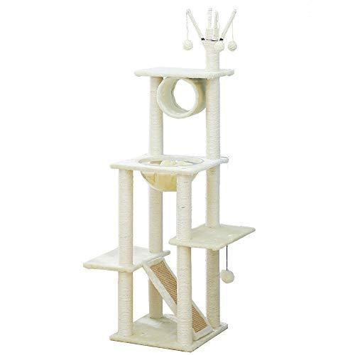 RCT-Cat boom multi-layer kat boom verhoogde hangmat kat huis kat toren kat spel vrije tijd plaats sisal nest kat kraskolom kat appartement kat klimmen frame kerst kat boom decoratie