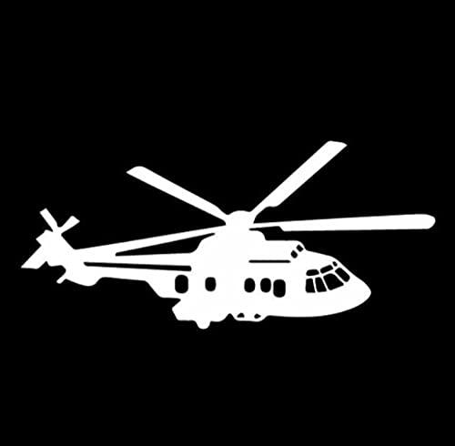 Cbhsjinsuxha Adesivi per Auto da 4 Pezzi 15.6CM * 7CM Delicato Aeroplano Elicottero Decalcomania in Vinile Decor Adesivo per Auto
