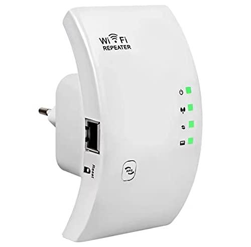 SOOTEWAY Repetidor WiFi, 300Mbps Extensor WiFi, Amplificador WiFi 2.4GHz con Repertidor/Ap Modo y la función WPS, Amplificador Señal de Red WiFi con Puerto Ethernet e Interfaz de Alimentación