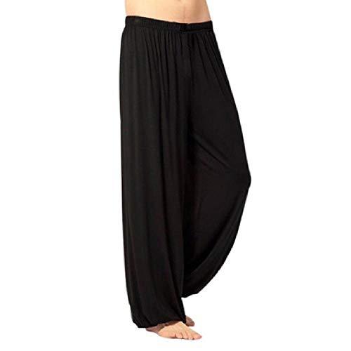 N\P Pantalones de chándal para hombre, casual, color sólido, pantalones holgados, danza del vientre, yoga, harén, pantalones holgados
