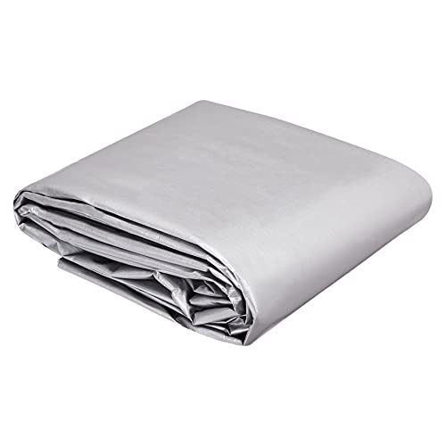 AmazonCommercial Multi Purpose Waterproof Poly Tarp Cover, 16 X 20 FT, 16MIL Thick, Silver/Black, 1-Pack