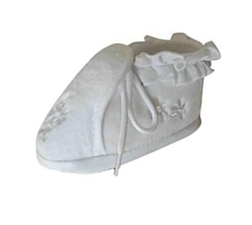 Seruna Festliche-r Baby-Schuh TP16 Gr. 16 Tauf-Schuhe weiß für Babies Junge-n und Mädchen zu Hochzeit-en