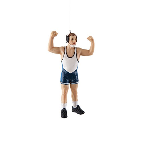 GALLERIE II Wrestling Christmas Xmas Ornament Blue