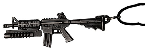 topt mili Pendentif Fusil m16 mitraillette Carabine Acier Noir Sons of Anar Paintball Airsoft Us USA