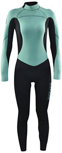 Kounga Dw 4.3 Traje para Surf y Buceo, Mujer, Azul Claro/Negro, XL