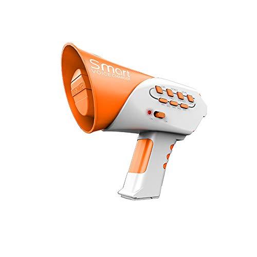 QqHAO Voice Changer pour Les Enfants avec Mégaphone Fonction, Voice Changer Multi-Fonctionnelle Jouet adapté pour Les garçons et Les Filles,Orange