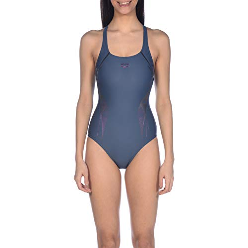 arena Damen Sport Badeanzug Slinky, shark-freakrose, 36