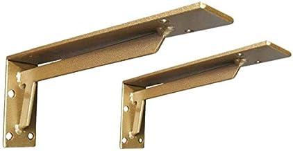 WaiMin Meubilair Component 2 Gouden Driehoek Beugels Marmeren Beugel wastafel Statief Wandrek TV Kast Hoek IJzeren Laadlag...