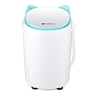 2-in-1 Portable Washing Machine Washer And Spin Dryer For Camping Dorms Apartments College Rooms 3 KG Washer Capacity Green