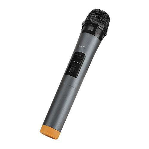 Queen.Y Micrófono Inalámbrico Uhf Micrófono de Mano Sistema de Micrófono Dinámico con Receptor para Karaoke Altavoz de Voz Amplificador de Voz Sistema de Pa Canto Máquina Iglesia