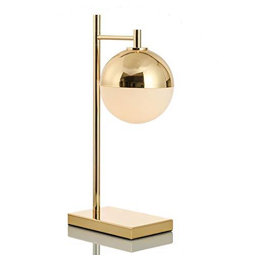 Lámpara de Mesa Tabla de bola interesante de la lámpara de oro de noche contador de la lámpara de cristal Estudio Pantallas de iluminación de noche dormitorio lámpara de mesa de regalos de boda hermos