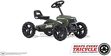 Berg Pedal Car Buzzy Jeep Sahara | Pedal Go Kart, Ride On Toys for Boys and Girls, Toddler Ride on Toys, Outdoor Toys, Beats Every Tricicle, Adaptable to Body Lenght, Go Cart for Ages 2-5 Years