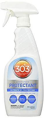 303 (30308) UV Protectant Spray for Vinyl, Plastic, Rubber, Fiberglass, Leather & More – Dust and Dirt Repellant - Non-Toxic, Matte Finish, 16 Fl. oz.