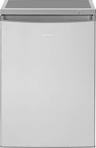 Bomann KS 2184 Kühlschrank / E / 84.5 cm / 137 kWh/Jahr / 107 L Kühlteil / 13 L Gefrierteil / justierbare Standfüße / silber