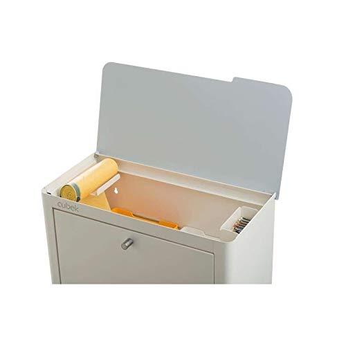 DON HIERRO - CUBEK - Cubo de basura y reciclaje lacado, con