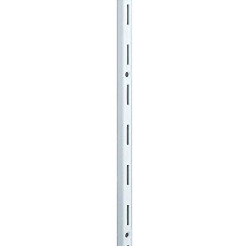 Element System Wandschiene 1-reihig, 2 Stück, 4 Abmessungen, 3 farben, Länge 200 cm für Regalsystem, Regalträger, Wandregal, weiß, 10000-00039
