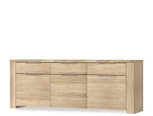 expendio Sideboard Calvin 7 Eiche Sonoma 189x83x50 cm Anrichte Schrank Wohnzimmer Esszimmer