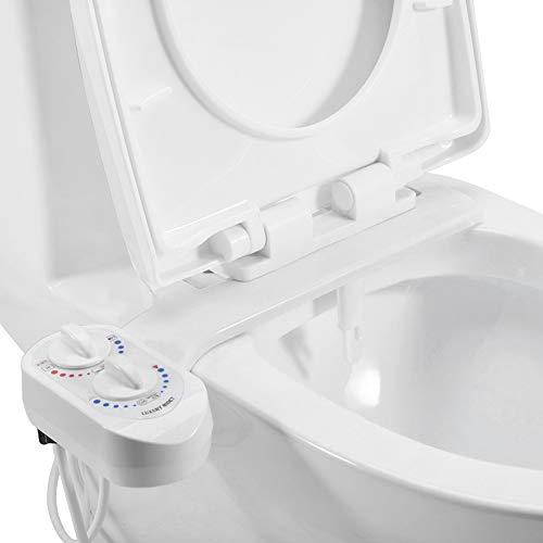 UFLIZOGH Bidet para WC universal Bidé Autolimpieza inodoro Boquilla Doble Agua fria y caliente Pulverizador para Higiene personal inodoro Toilet Puerpera ✅