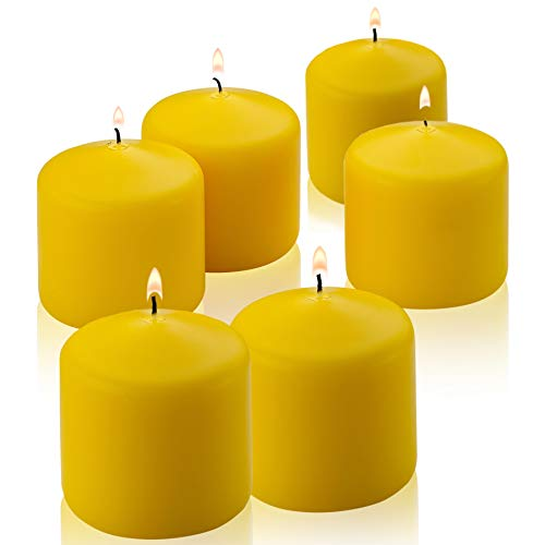 Citronella Pillar Candle - Set of 6 Citronella Candles - 3 inch Tall, 3 inch Thick - for Indoor/Outdoor Use