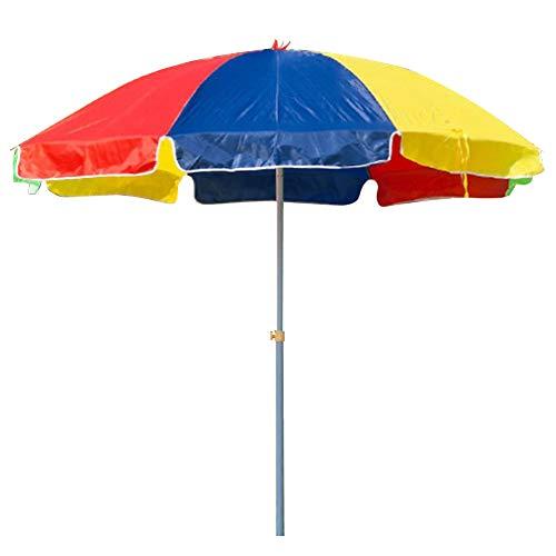 Wsaman 2.4m / 7.9ft Outdoor Market Garden Ombrello, Giardino Patio Sun Parasole Ottagonale in Poliestere e Acciaio Protezione UV Impermeabile per Esterno/Gazebo/Piscina/Giardino Tenda,Color,2.2m