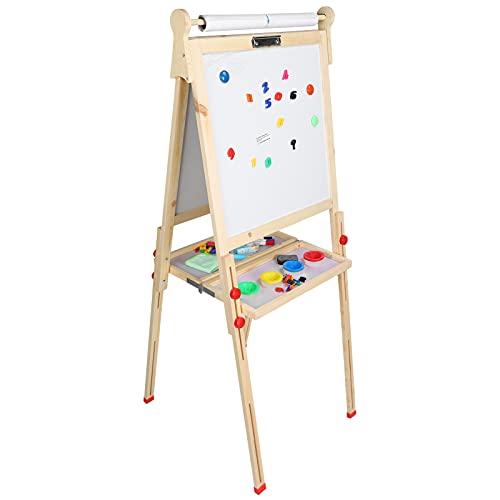 Shanrya Tablero De Dibujo De Doble Cara, Caballete De Dibujo De Doble Cara Ajustable para Niños para Caballete De Tablero De Dibujo