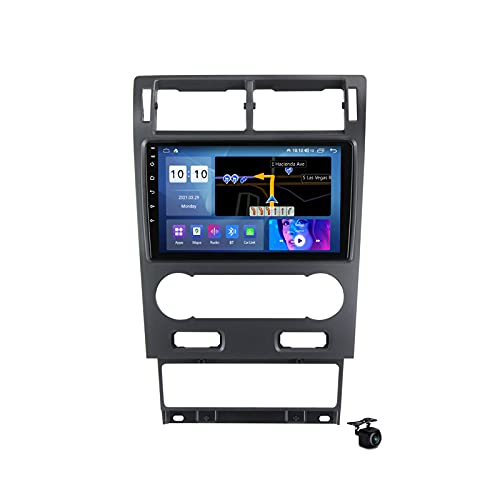 Radio estéreo para coche Android 10.0 para Ford Mondeo 2000-2007 GPS Navegación 9 pulgadas Pantalla táctil 2 Din Head Unit MP5 reproductor multimedia video receptor FM con SIM WIFI DSP Carplay, M500S
