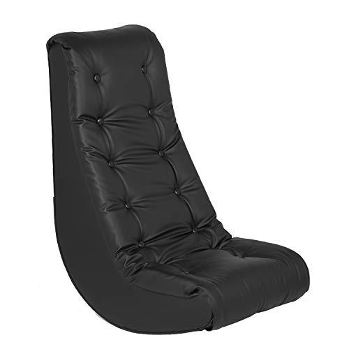 ECR4Kids Zachte schommelstoel, zwart
