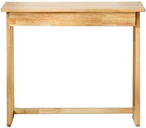 JINHH Tische Rubberwood Study Home Schreiben Computertisch, 1 Schublade Make-up Zeichnung Adluts Kinder (Farbe: Holzfarbe, Größe: 90x40x75cm)