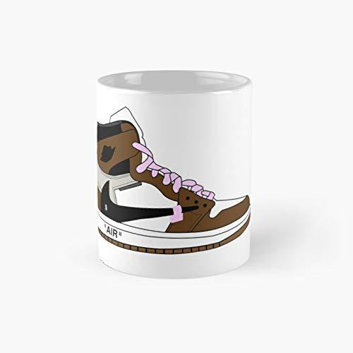 Travis Scott Off-white Jordan 1 Classic Mug Birth-day Holi-day Gift Drink Home Kitchen