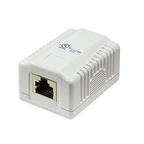 Faconet - Caja de conexión (cat. 6A, 1 conector RJ45 STP, 10 GB, 500 Mhz, universal AWG 22-26, cat7)