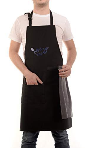 ZEROBY Grembiule da Cucina Innovativo per Il Cuoco Professionista e Dilettante per Uomo e Donna Indispensabile per Barbecue Bar e Grigliata da Chef.