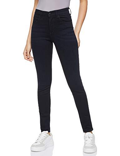Wrangler Damen Skinny Jeans HIGH RISE SKINNY, Schwarz (Blueblack 51L), W27/L32