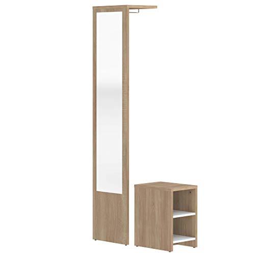Marca Amazon -Movian Deva - Mueble para el recibidor, 40 x 33 x 188cm (largo x ancho x alto), roble