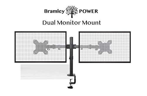 Bramley Power Dual Monitor Pantalla Brazo montaje