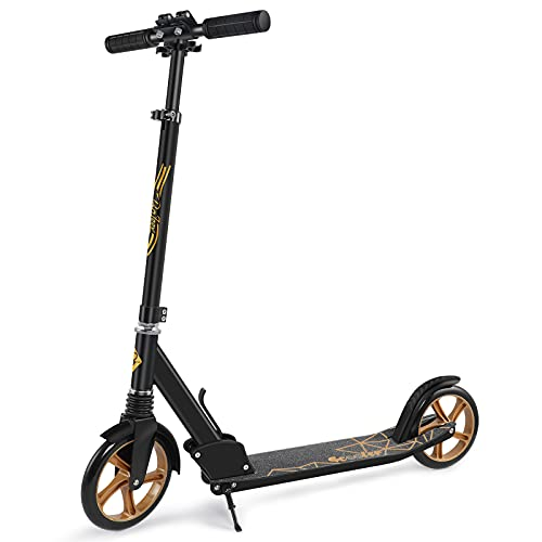 Beleev Scooters for Adults, Foldable Kids Kick Scooter 2 Wheel, Shock Absorption Mechanism, Large...