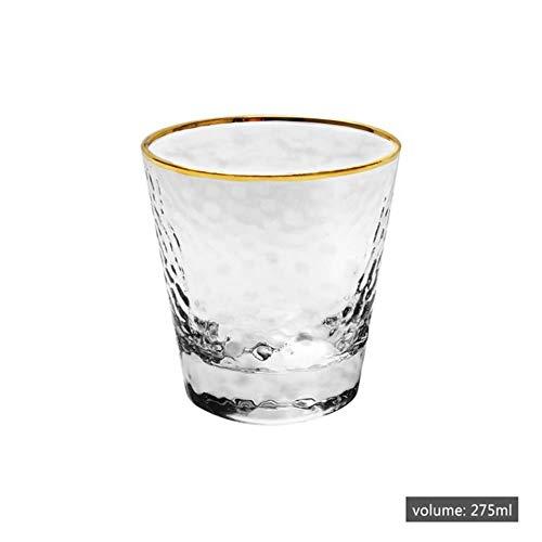 Ltong koffiemok thee bier drinkglazen beker beker transparant goud omrande whisky wijnglazen drinkware, 275ml