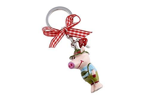 wohnschoen-zuhause Schlüsselanhänger Lederhosenschwein