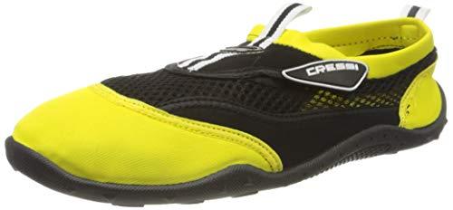Cressi Reef Shoes Chaussures Adaptées à la Plage et aux Sports Nautiques Mixte, Noir/Jaune, 48