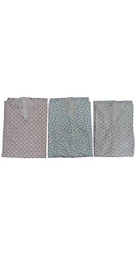 Grenouillère à manches longues pour personne âgée, avec fermeture éclair dans le dos, 100% coton léger -  -  XL