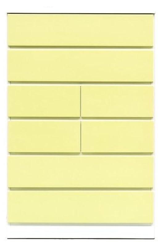 セグメントタオル寝室アルファタカバ ベビータンスシリーズ パッソ 75cm幅6段 イエロー