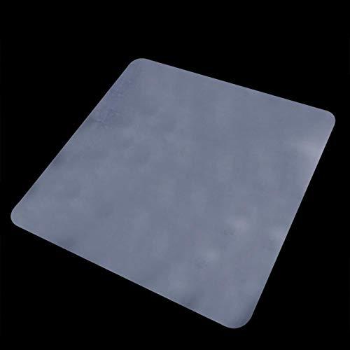 Kadimendium Alfombra de protección de Azulejos de tamaño Opcional Protector de Piso Transparente Alfombra de Silla Alfombra de Oficina en casa(Black, 120 * 120)